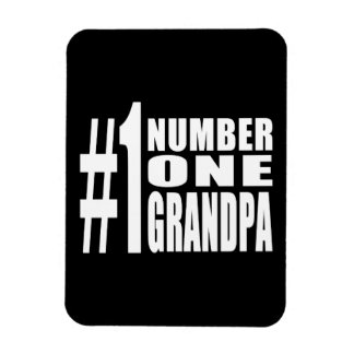 Grandpas Birthdays & Christmas Number One Grandpa Rectangle Magnets