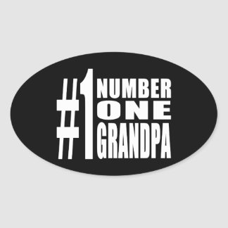 Grandpas Birthdays & Christmas Number One Grandpa Oval Sticker