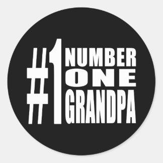 Grandpas Birthdays & Christmas Number One Grandpa Classic Round Sticker