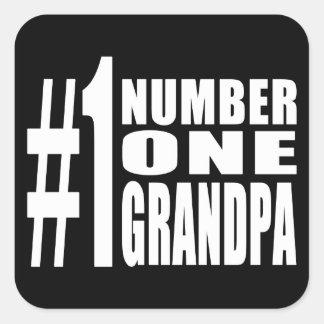 Grandpas Birthdays & Christmas Number One Grandpa Square Sticker
