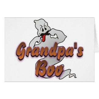 Grandpa's Boo Halloween Ghost Card