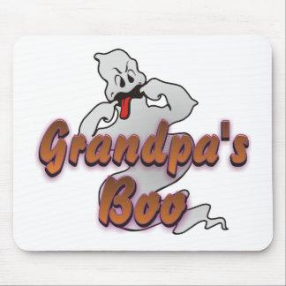 Grandpa's Boo Halloween Ghost Mouse Pad