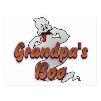 Grandpa's Boo Halloween Ghost Postcard