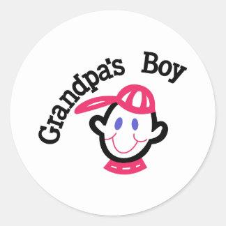 Grandpas Boy Classic Round Sticker