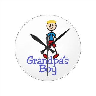 Grandpas Boy Round Clock