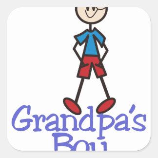 Grandpas Boy Square Sticker