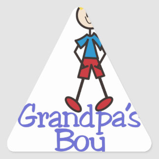 Grandpas Boy Triangle Sticker