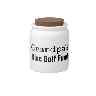 Grandpa's Disc Golf Fund Desk Jar or Bank