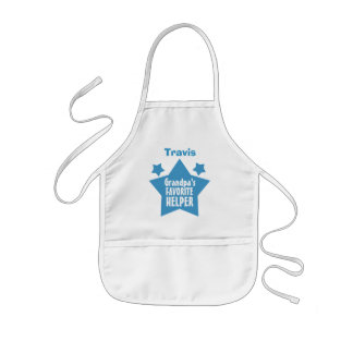 GRANDPA'S Favorite Helper with Name with STARS V08 Kids' Apron