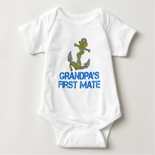 Grandpas First Mate Baby Bodysuit