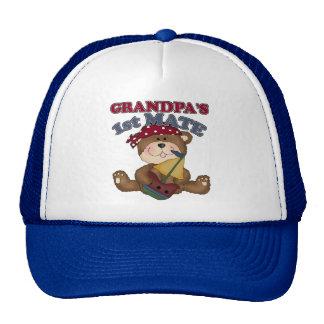 Grandpa's First Mate Pirate Mesh Hat
