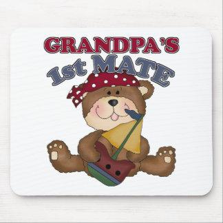 Grandpa's First Mate Pirate Mouse Pad