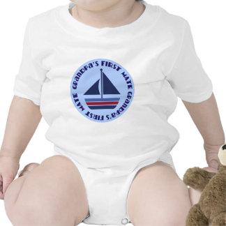 Grandpa's First Mate Sailing Sailboat Gift Romper