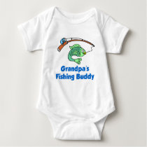 Grandpa's Fishing Buddy Baby Bodysuit