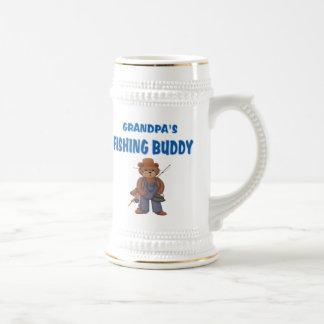 Grandpa's Fishing Buddy Bears Beer Stein