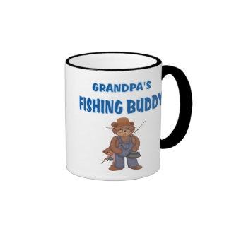 Grandpa's Fishing Buddy Bears Ringer Mug