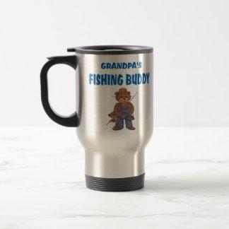 Grandpa's Fishing Buddy Bears Travel Mug