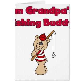 Grandpas Fishing Buddy Greeting Cards