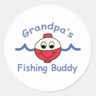 GRANDPAS FISHING BUDDY CLASSIC ROUND STICKER