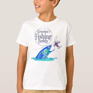 Grandpa's Fishing Buddy Kids T-shirts