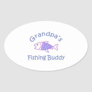 GRANDPAS FISHING BUDDY OVAL STICKER