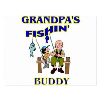 Grandpa's Fishing Buddy Postcard