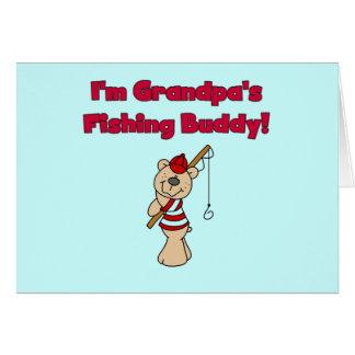 Grandpa's Fishing Buddy Tshirts and Gifts Card