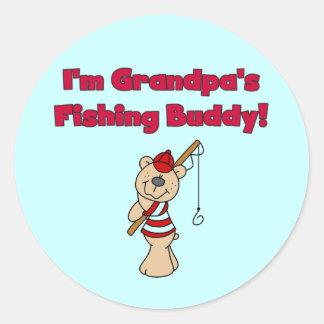 Grandpa's Fishing Buddy Tshirts and Gifts Classic Round Sticker