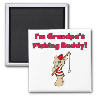 Grandpa's Fishing Buddy Tshirts and Gifts Fridge Magnet