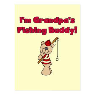 Grandpa's Fishing Buddy Tshirts and Gifts Postcard
