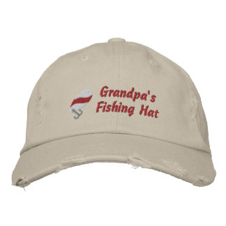 Grandpa's Fishing Hat Customi Personalized Embroidered Hats