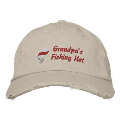 Grandpa's Fishing Hat Customizable Embroidered Hat