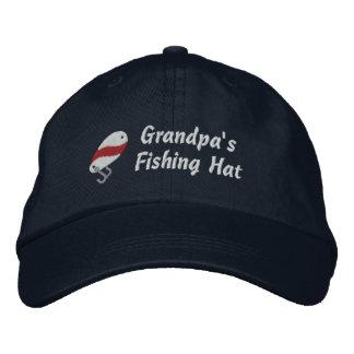 Grandpa's Fishing Hat Customizable Embroidered Baseball Caps