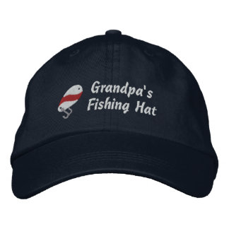 Grandpa's Fishing Hat Customizable Name Embroidered Hats