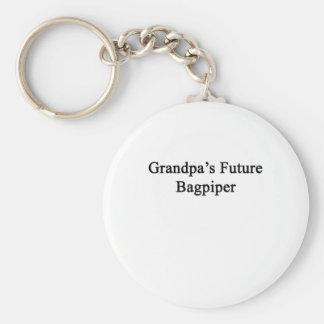 Grandpa's Future Bagpiper Basic Round Button Keychain