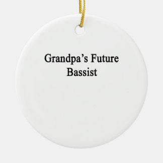 Grandpa's Future Bassist Ceramic Ornament