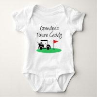 Grandpa's Future Caddy Baby Bodysuit