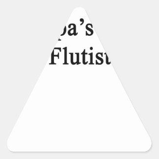 Grandpa's Future Flutist Triangle Sticker