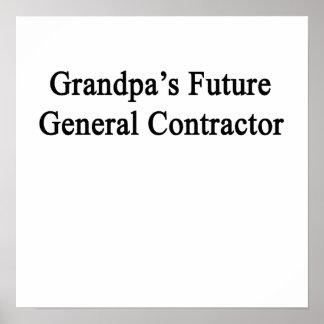 Grandpa's Future General Contractor Poster