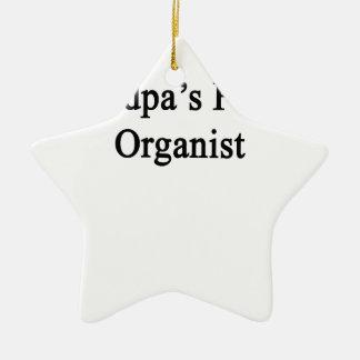 Grandpa's Future Organist Ceramic Ornament