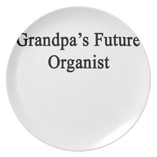 Grandpa's Future Organist Melamine Plate