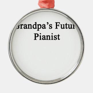 Grandpa's Future Pianist Metal Ornament