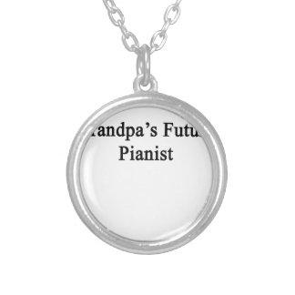 Grandpa's Future Pianist Silver Plated Necklace