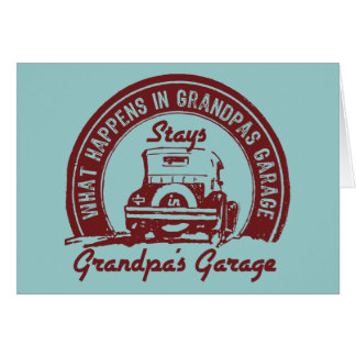 Grandpa's Garage Card