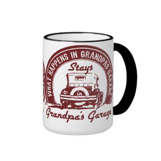 Grandpa's Garage Ringer Coffee Mug