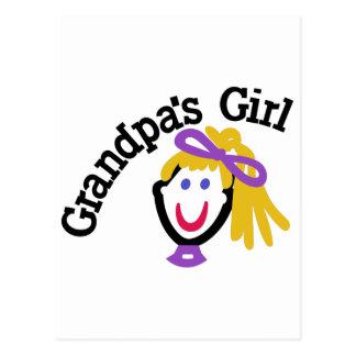 Grandpas Girl Postcard