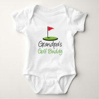 Grandpa's Golf Buddy Baby Bodysuit