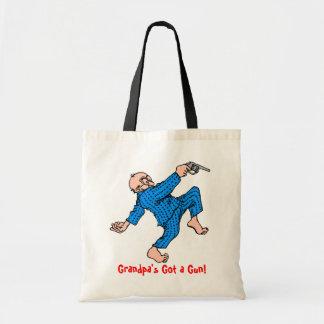 Grandpa's Got a Gun! Tote Bags