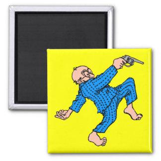 Grandpa's Got a Gun! (Personalize This!) 2 Inch Square Magnet