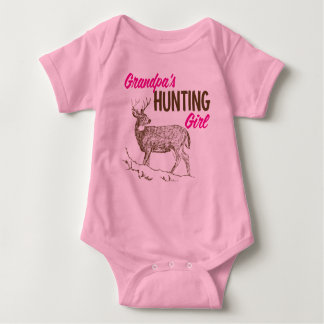 Grandpa's Hunting Girl Baby Bodysuit